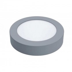 Downlight Led Profesional de Superficie Plata Redondo 18 W