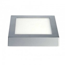 Downlight Led Profesional de Superficie Plata Cuadrado 18 W