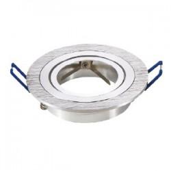 Ojo de buey redondo para GU10 aluminio