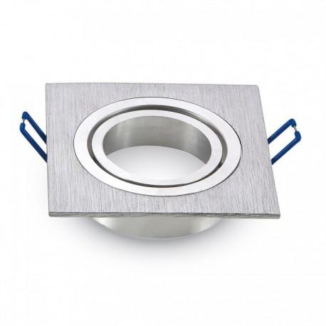 Ojo de buey cuadrado para GU10 aluminio