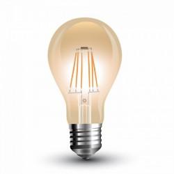 Bombilla LED 4W E27 A60 filamento AMBAR