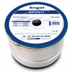 Bobina 100M cable coaxial PROF DIGI-100LC BLANCO