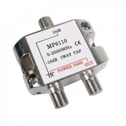 Derivador de 1 salida - 10dB (5-2400Mhz)