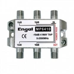 Derivador 4 salidas - 10dB (5-2400Mhz)