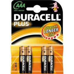 Pila Duracell Alcalina LR03 AAA (Pack4)