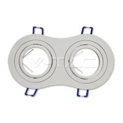 Ojo de buey doble redondo/cuadrado para GU10