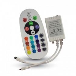 Controlador infrarrojo con control remoto 24 botones