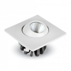 Downlight LED empotrable orientable 3W CUADRADO