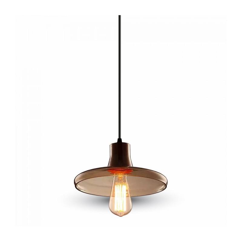 L mpara colgante cristal modelo 1xe27 24cm plusled - Colgantes de cristal para lamparas ...