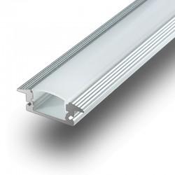 Perfil Aluminio de Superficie Lacteo Mate