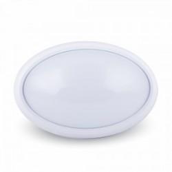 Plafón ovalado cuerpo blanco 12W