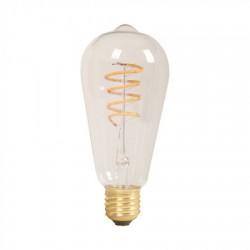 Bombilla LED 5W E27 ST64 filamento AMBAR