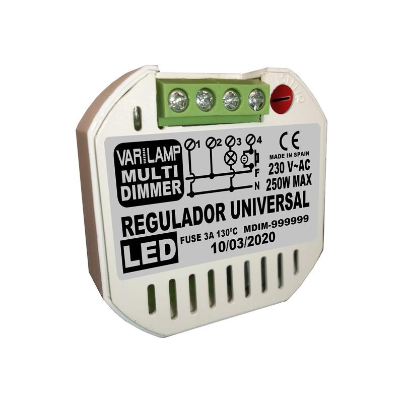Regulador a pulsador para bombillas led plusled for Regulador para bombillas led