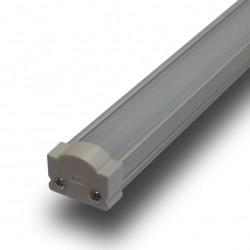 Perfil Aluminio de Superficie con difusor curvo opal