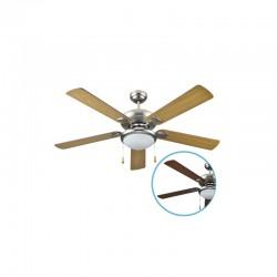 Ventilador de techo con luz aspas reversibles (2xE27)