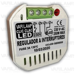 Regulador a interruptor para bombillas LED
