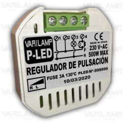 Regulador a pulsadores para LED regulables a principio de fase (TRIAC)