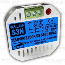 Temporizador de seguridad a 3 hilos con apagado progresivo de 15 segundos
