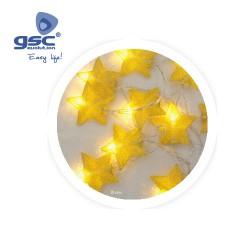 Estrellas de LED Doradas