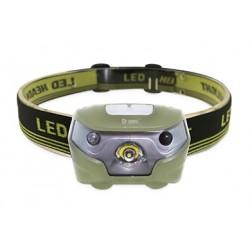 Linterna LED de cabeza recargable con sensor