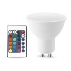 Bombilla LED 5W GU10 RGB+3000K