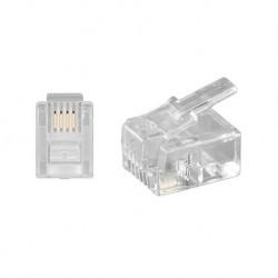 Conector telefónico 6P/4C RJ11