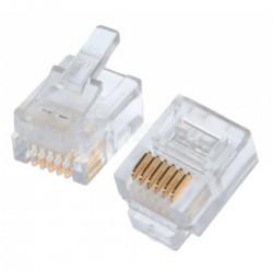 Conector telefónico 6P/2C RJ10