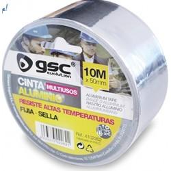 10M Cinta de aluminio -20ºC a +110ºC 50mm