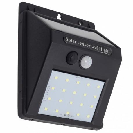 Aplique Solar 3W 6500K - con sensor de movimiento
