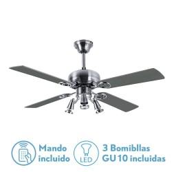Ventilador de techo GALERNA con luz (3xGU10)