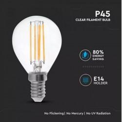 Bombilla LED 4W E14 P45 filamento