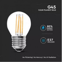 Bombilla LED 4W E27 G45 Filamento