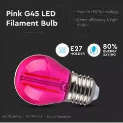 Bombilla LED 2W E27 G45 filamento