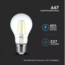 Bombilla LED 8W E27 A67 filamento