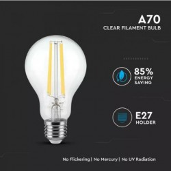 Bombilla filamento LED 12.5W E27 A67 Clara