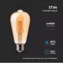 Bombilla LED 4W E27 ST64 filamento