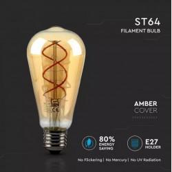 Bombilla LED filamento E27 ST64 5W