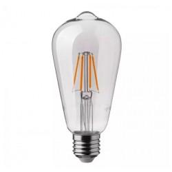 LED Bulb - 4W Filament E27 ST64 2700K Dimmable