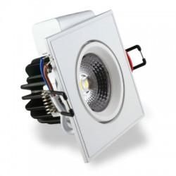 Empotrable LED 3W Cuadrado Blanco
